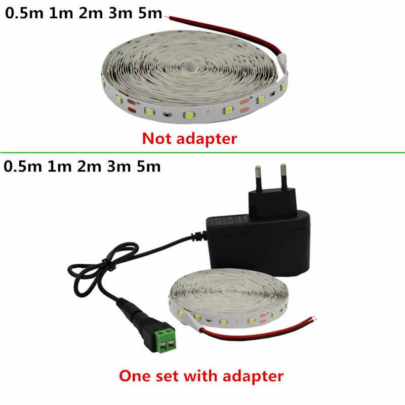 RGB cálido blanco Azul Rojo verde LED tira SMD2835 impermeable 50cm 1m 2m 5m Set Super brillante luz cc 12V LED cinta lámpara Flexible