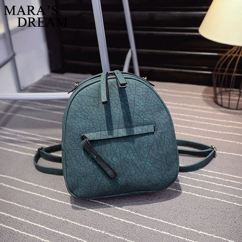 mulheres bolsa pequeno mulheres mochila Bolsa Feminina Color : Wine Red Green Black Gray 4 Estilo Colors Teenager PU Backpacks