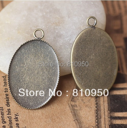 Free Shipping! Wholesale,Inner:13x18/18x25/30x40mm Brass Vintage Pattern Cameo Settings,Bronze Pendant Blank Cabochon Setting