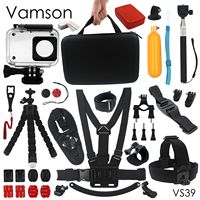 Vamson For Xiaomi For Yi Accessories Set Waterproof Housing Case Sponge Octopus Tripod Big Box For