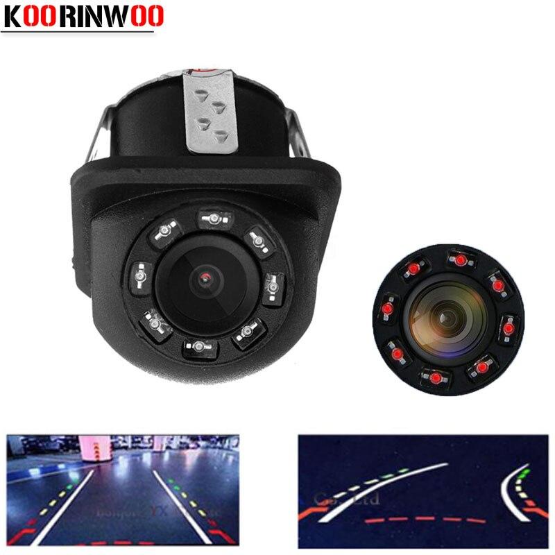 Koorinwoo Dinâmica trajetória Linha Estacionamento câmera Retrovisor Do Carro Câmera de visão Traseira Do Carro Back up Estacionamento Assistência Vídeo RCA/AV entrada