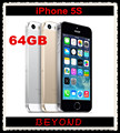 Apple iPhone 5S 64GB Original Factory Unlocked Mobile Phone 4G LTE 4.0 inches Dual Core IOS 8 A7 RAM 1GB 8MP Cell phone