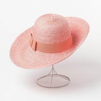 6 colors New Fashion Women Sun Straw Hats Big Wide Brim High Crown Sun bonnet Bow Ribbon Beach Straw topee 2019 Spring Summer