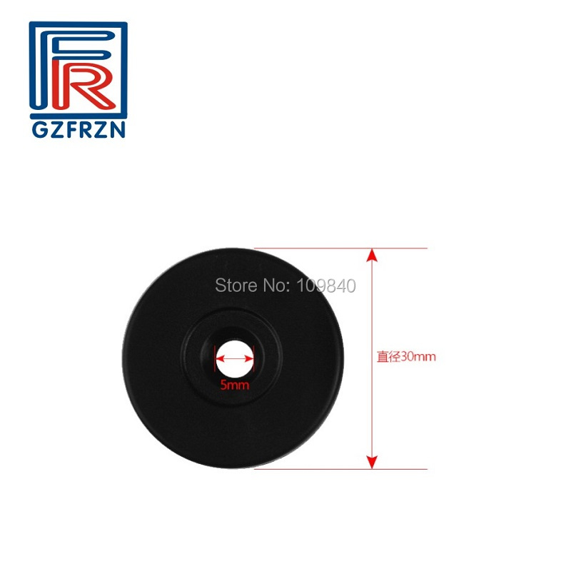 100pcs/lot 13.56mhz NFC ABS+anti Metal+3M Sticker Patrol Point Tag With NTAG213 Chip Rfid Button For Public Transportation