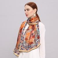 AL01603 New Fashion Crepe Satin long scarf Autumn Winter Scarf Silk Scarves Shawl 100% Silk Scarf