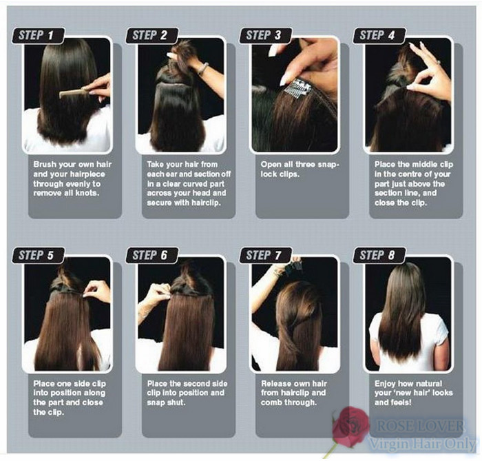 18 24inches Clip In Hair Extensions 120g Set 100 Indian Human