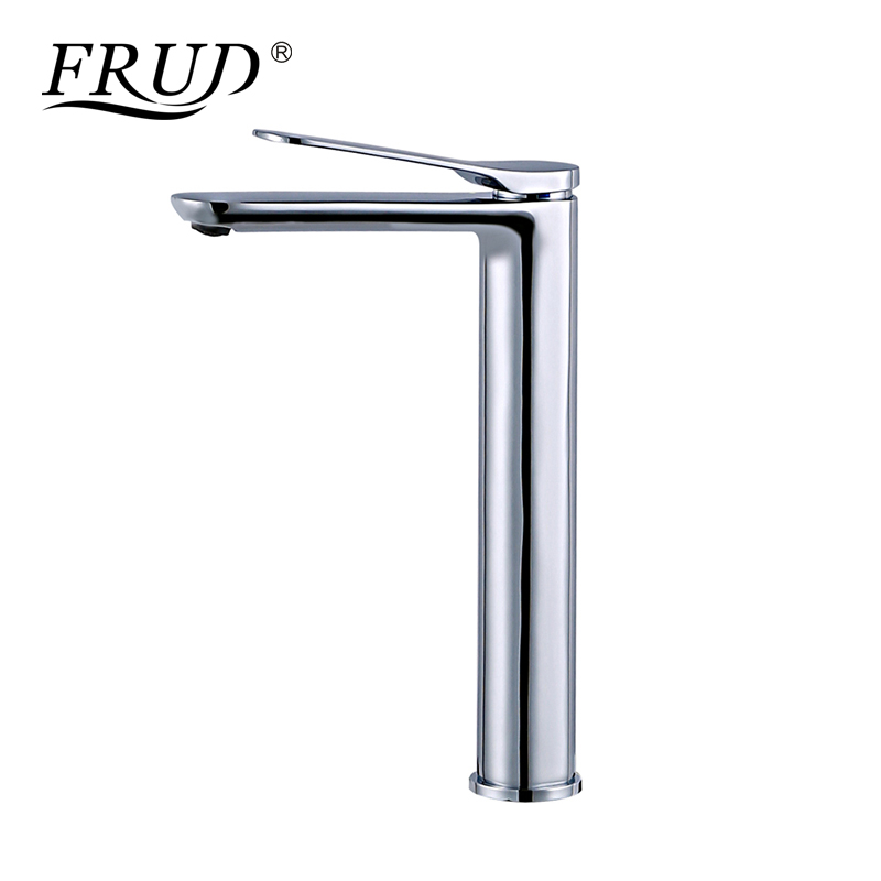 Frud bathroom basin faucet chrome deck mounted round bath - Bathroom sink faucets separate hot and cold ...