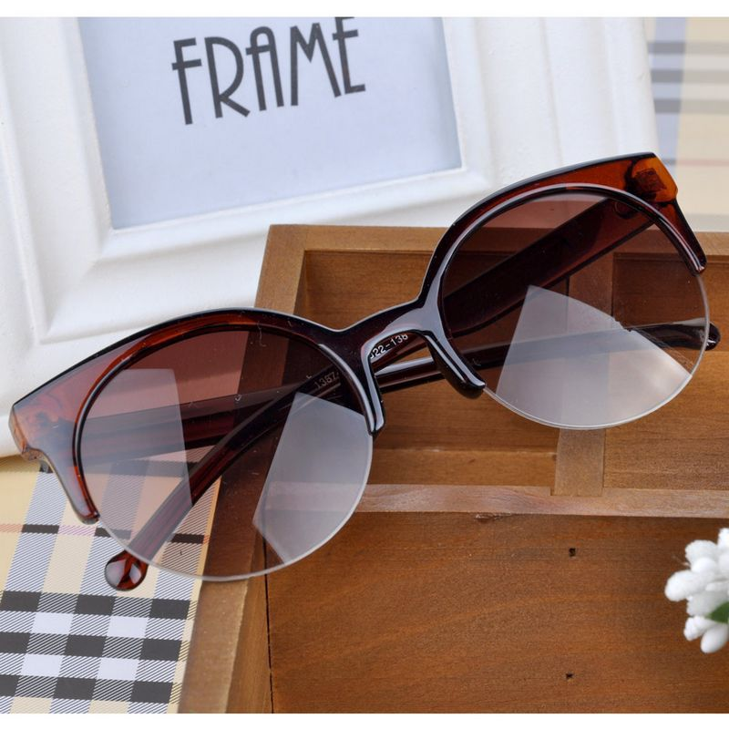Circle Glasses Goggles Oculos-De-Sol Cat-Eye Feminino Round Retro Designer New-Fashion