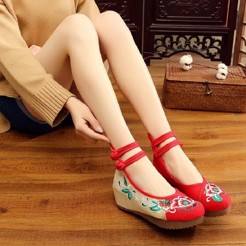 De Vert b noir Broderie Zapatos Femmes Sangle C2218 Loisirs Cresfimix Beige Mujer Chaussures Casual Boucle a Lady Confortable Plat bleu 5qPwxnHa