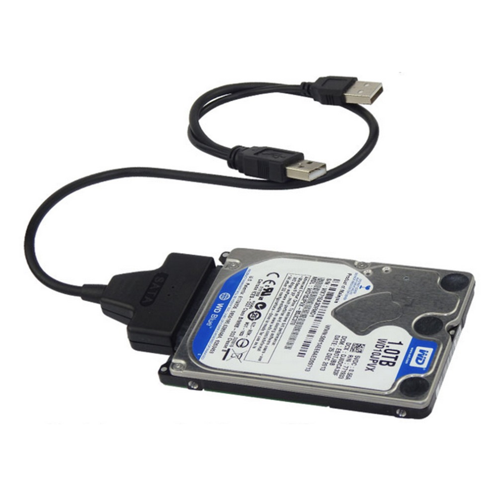 NEW USB2.0 to SATA 22Pin Cable for 2.5inch HDD Hard Drive Solid State Drive In stock!