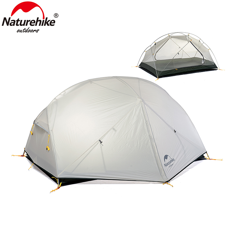 Naturehike 3 Season Camping Tent 20D Nylon Fabic Double Layer Waterproof Tent For 2 Persons NH17T006
