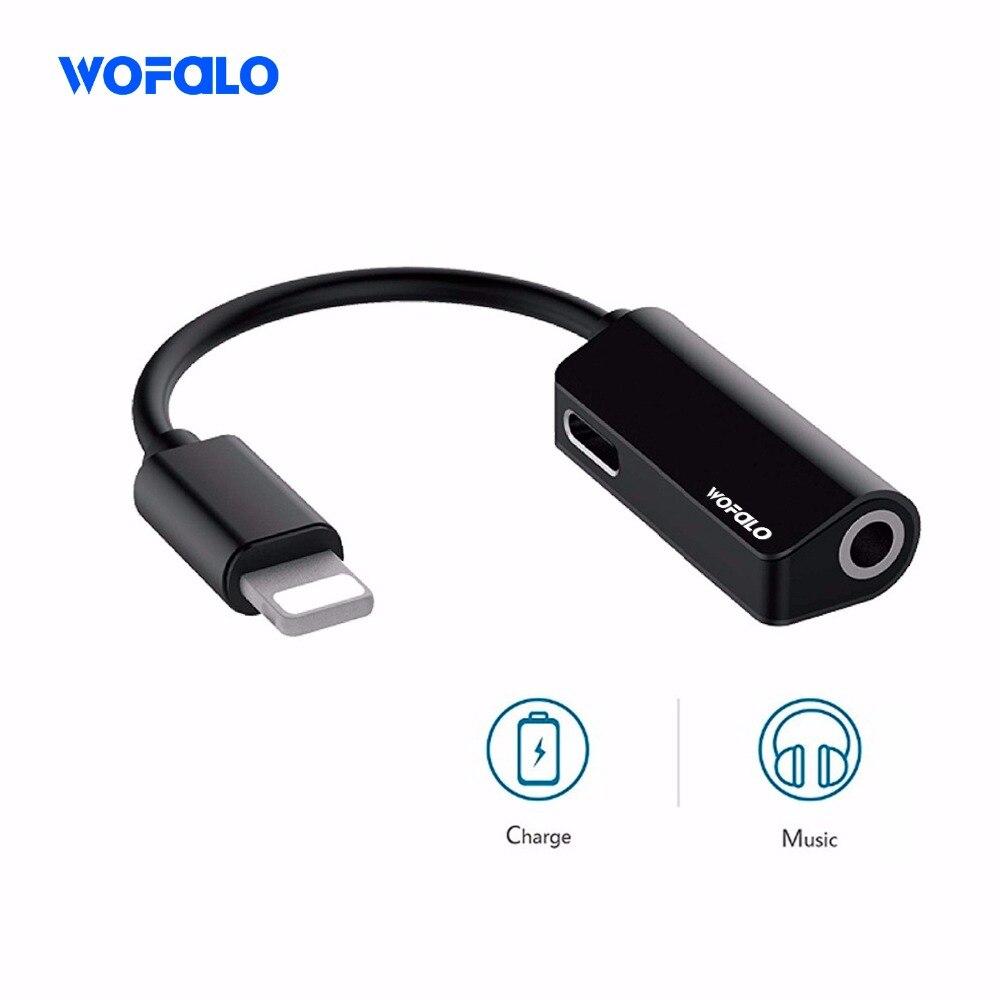 Wofalo 2in1 für Blitz Verlängerung Kabel für iPhone 8 10 X Ladegerät Splitter Kopfhörer Adapter für iPhone 7 Lade Adapter