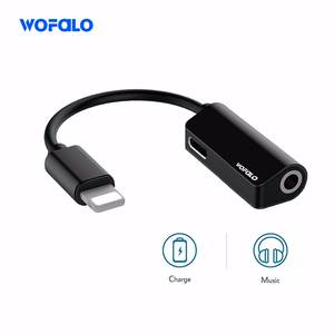 Wofalo 2in1 for Lightning Extension Cable for iPhone 8 10 X Charger Splitter Headphone
