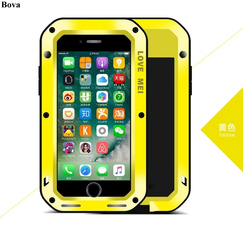 Original Love Mei Waterproof Shockproof Case for iPhone 7 Plus Rugged cover Metal Aluminum Case For iPhone 7 4.7 5.5