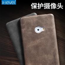 X-Niveau Vintage En Cuir Case Pour Xiaomi Mi Note 2 Couverture Arrière Pour Xiaomi Mi Note2 Téléphone Capa fondamentale Pour Hommes