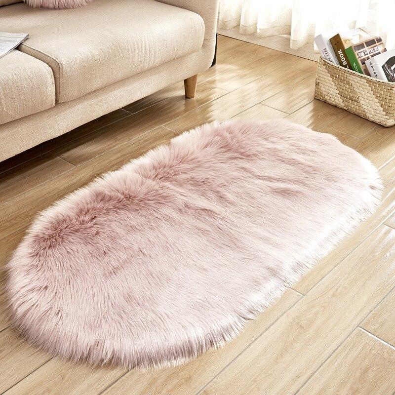 USA Soft Shiny Carpet Long Faux Fur Sheepskin Chairs Sofas Cushions  Home Decor