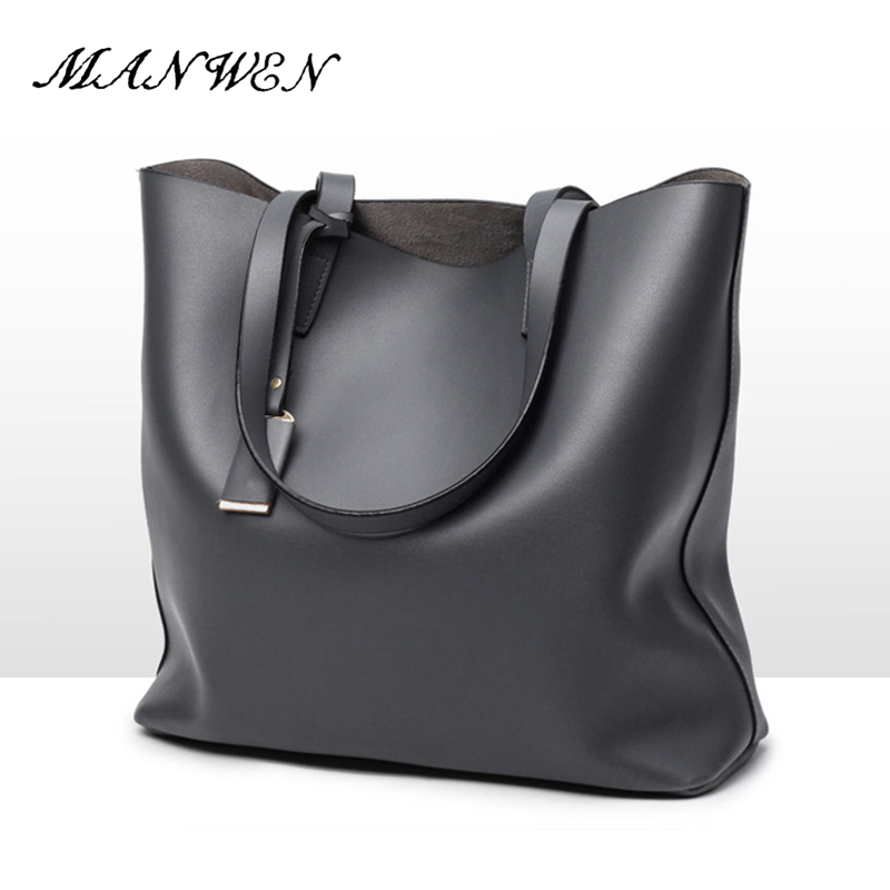 Women Handbags 2017 New Simple Fashion Famous Designers Brand Large Bags Solid PU Leather Bags / Shoulder Tote Bags Big Handbag new 2016 simple fashion brand designers handbags women composite bag women crocodile pattern totes wallets