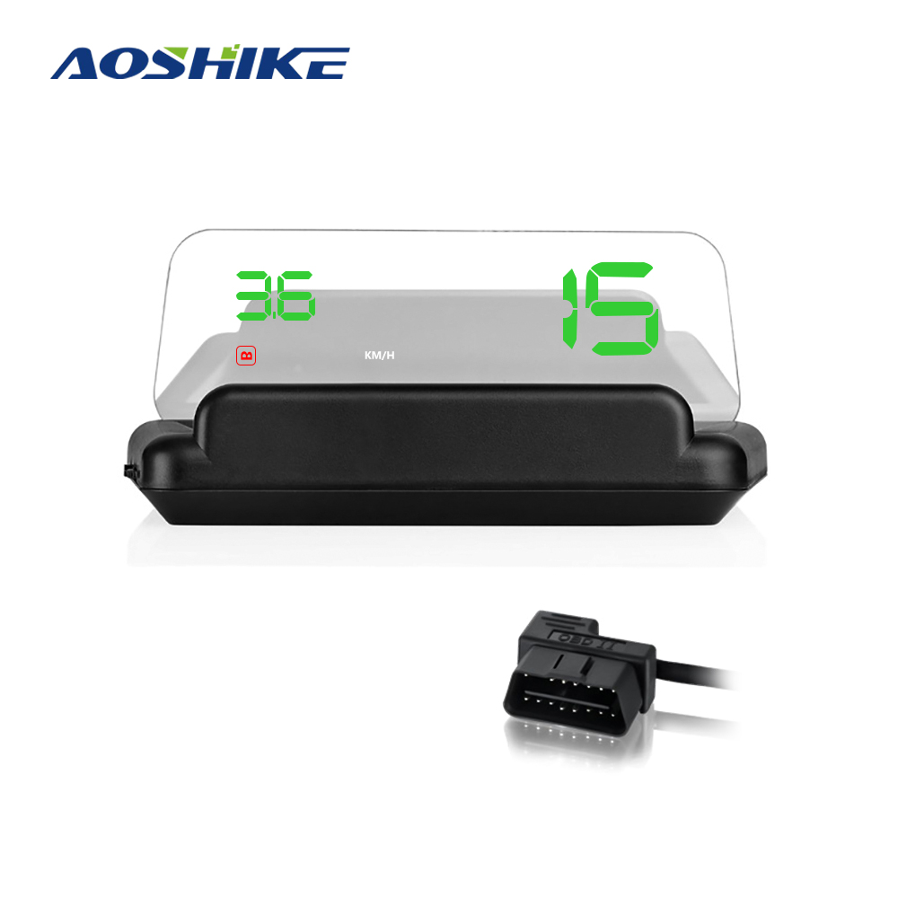 Aoshike Original C500 OBD2 Hud Head-Up Display With Mirror Projection Digital Car Speed Projector On-Board Computer Fuel Mileage original new c500 5 obd2 hud head up display digital windshield stereo imaging car speed projector 8 display mode car computer
