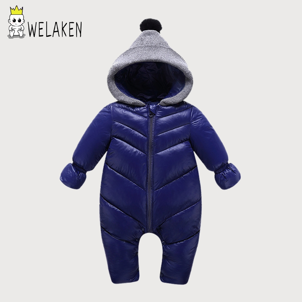 welaken Baby Rompers 2017 New Winter Newborn Boys & Girls Cotton 2 Colors Children Clothes Kids Rompers Warm Jumpsuits hot new autumn fashion baby rompers cotton kids boys clothes long sleeve children girls jumpsuits newborn bebes roupas 0 2 years