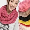 Мужская Осень зима тик женщин шарф шерсть Воротник шаль шея Теплый розовый Высокое Качество Шарфы женский Wrap кольцо 117