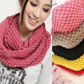 Lic Unisex Outono inverno mulheres cachecol de tricô de Lã Gola xale pescoço rosa Quente de Alta Qualidade Lenços de Moda feminina anel Envoltório 117