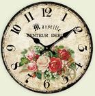 Vintage Wooden Black White Wall Clock Large Shabby Chic Rustic Family warmth Antique Style wall world