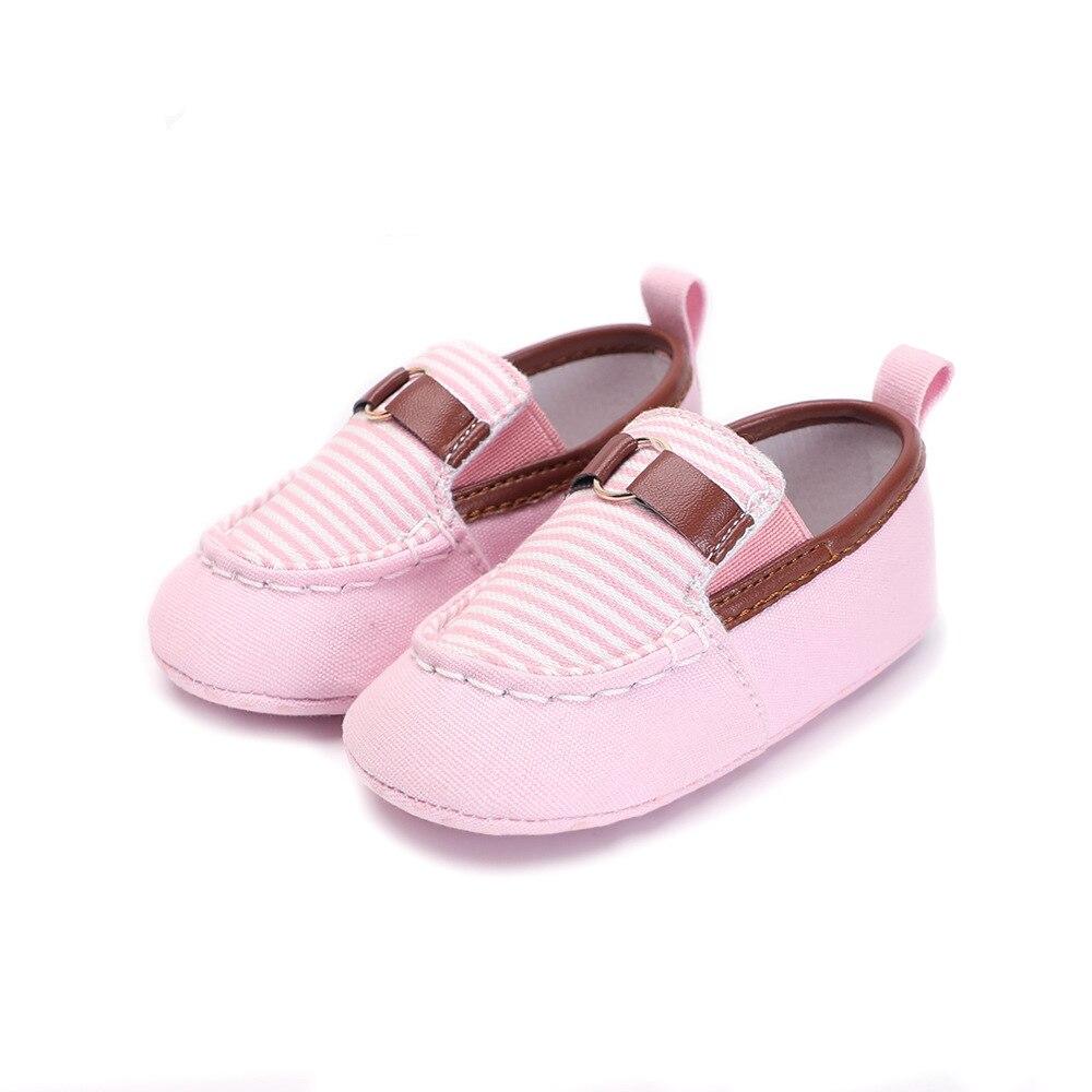 Toddler Newborn Baby Boy Girl Slip-On Loafers Canvas Sneaker Soft Sole Prewalker S3CJn