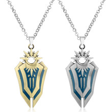 League van LOL Leona Shield Metal Silver Gold Charm Hanger Cosplay Accessoires Sieraden Ketting Vrouwen Mannen Statement Ketting-10(China)