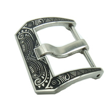 18 20 22 24 26mm 316L Stainless Steel Tang Buckle For Pam Rubber Watch Band Leather Strap Carved Pattern Screw Clasp + Tool все цены