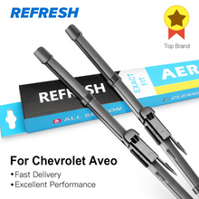 REFRESH Wiper Blades for Chevrolet Aveo Second Generation T300 Fit Hook Arms / Pinch Tab Arms Model Year from 1995 to 2018
