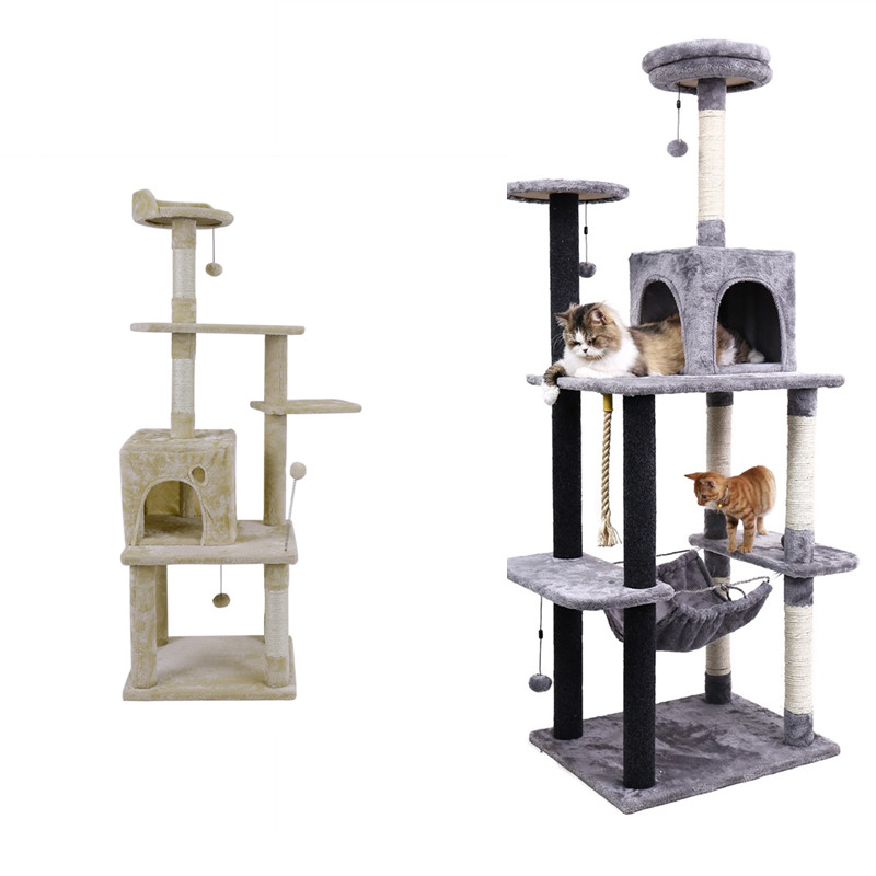 Rapid Pet chaise bois animaux meubles Cube robuste maison Condo maison chaude avec échelle chat escalade chaton amusant jouet arbre à chat