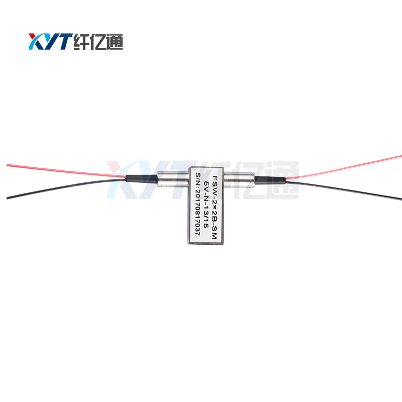 FC UPC Connector 1260~1650nm 2x2 Fully Fiber Optic SwitchFC UPC Connector 1260~1650nm 2x2 Fully Fiber Optic Switch