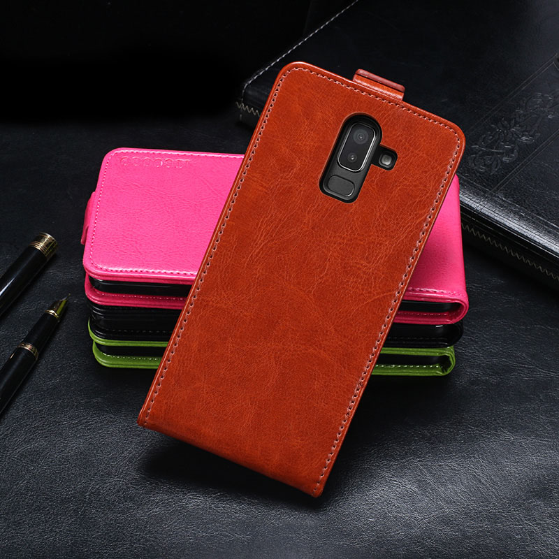J8 2018 case For Samsung J8 2018 case cover Luxury Flip pouch leather capa For coque Samsung Galaxy J8 2018 J 8 case Fundas bags