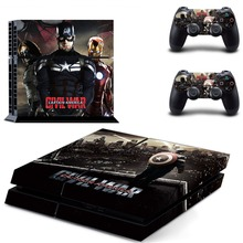 Avengers Iron Man Iron-man GTA5 PS4 Skin Sticker Decal Vinyl for Sony Playstation 4 Console and 2 Controllers PS4 Sticker