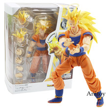 3 SHF Figuras Dragon Ball Z Super Saiyan Goku Dragão-Bola PVC Figure Toy Collectible Modelo 16 cm(China)
