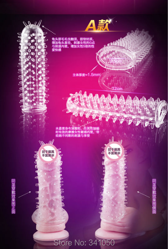 5 Models Delay Crystal Penis Sleeve Textured Extension Reusable Condoms Series for Couple Sex Products Adult Sex Toys for Men 5