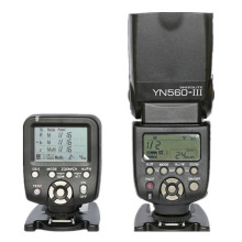 купить YONGNUO YN-560 III Manual Speedlite With Yongnuo YN-560TX Manual Flash Controller For Canon Nikon DSLR Cameras дешево