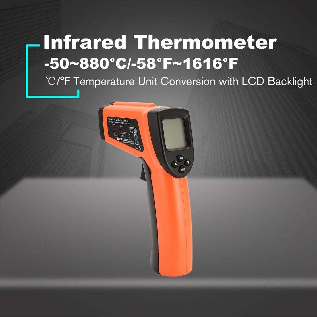 DT8011H LCD Digitale Portatile A Raggi Infrarossi di Temperatura del Termometro del Tester del tester Portatile Rosso Laser Senza Contatto A INFRAROSSI Pirometro Pistola
