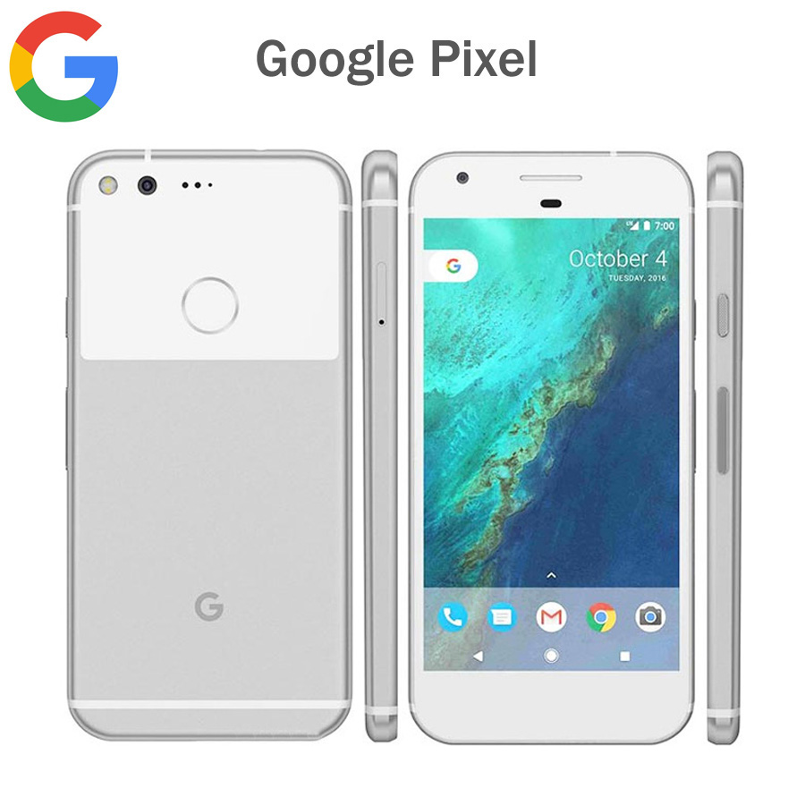 Brand New US Version Google Pixel 4G LTE Mobile Phone 5.0inch 4GB RAM 128GB ROM Quad Core Snapdragon 821 NFC Android Smartphone
