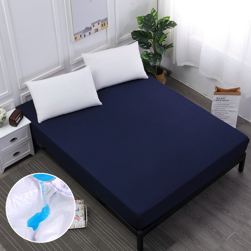 Waterproof Mattress Cover Bed Sheets Bed Covers with Elastic Band for Single/double Bed  ...