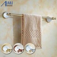 63GD Series Golden Polish Towel Bar With Diamond Bathroom Accessories Towel Bar Towel Rack With Hook