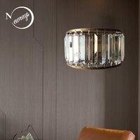 현대 간단한 크리스탈 벽 조명 e14 led 스위치 벽 램프 거실 침실 식당 연구 통로 레스토랑 카페