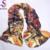 Otoño Invierno Mantón de La Bufanda de Seda Pura de Café Señoras Largas Bufandas Impresas Mano Rollo de dobladillo 100% de Seda Bufanda 178*55 cm zwj02