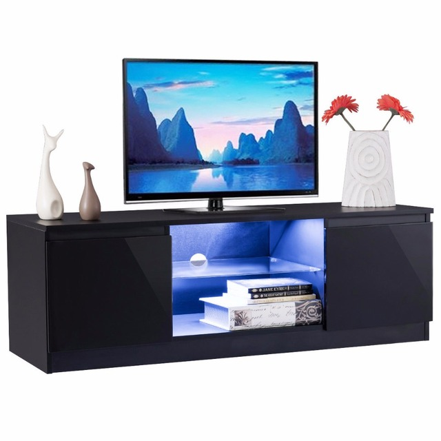 Giantex High Gloss TV Stand Unit Cabinet Media Console Furniture