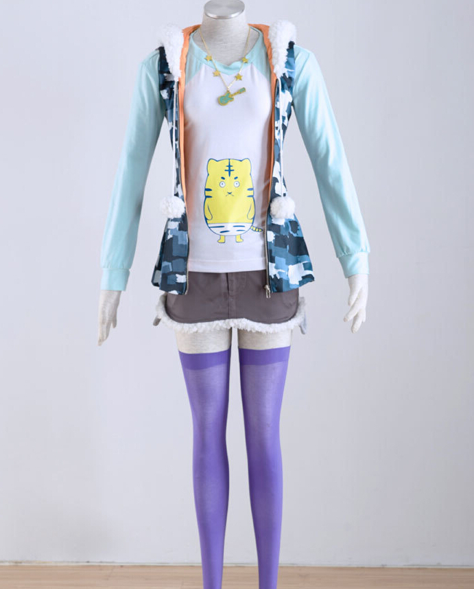 Super Sonico Girls Cosplay Suit High Quality Customized Cosplay Costumes Any Size Hot Sale for Ladies MR047