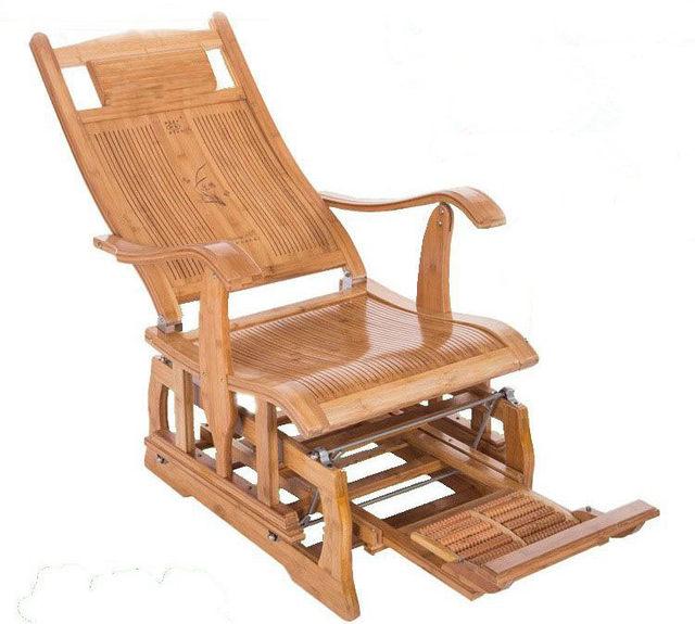 Online Shop Modern Bamboo Rocking Chair Adult Glider Rocker Natural ...
