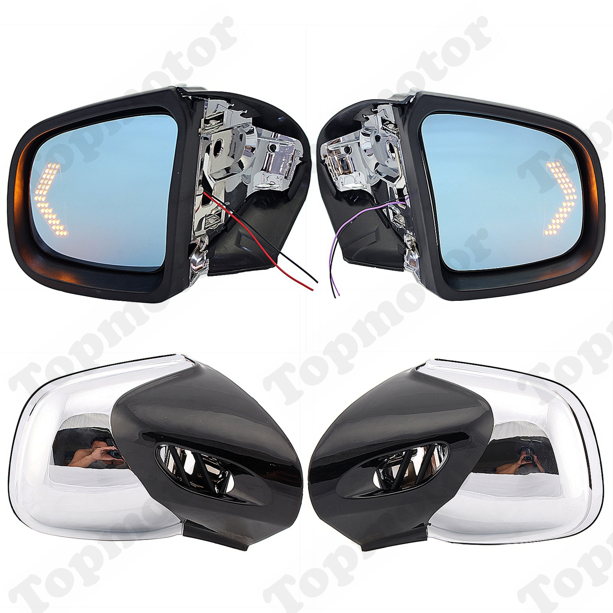 Motorcycle Rearview Side Mirrors For BMW K1200 K1200LT K1200M 1999-2008 05 03 02