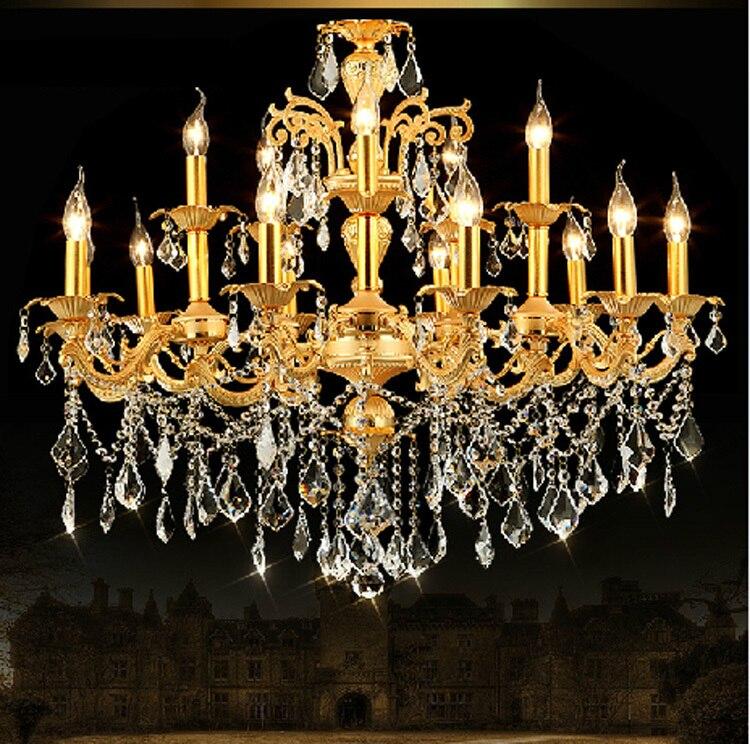 Սրճարան ոսկե ջահ բյուրեղային - Ներքին լուսավորություն - Լուսանկար 3