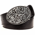 Fashion belt men Retro Tang dynasty flower design belt arabesque pattern golden flower Fashion element popular girdle women gift