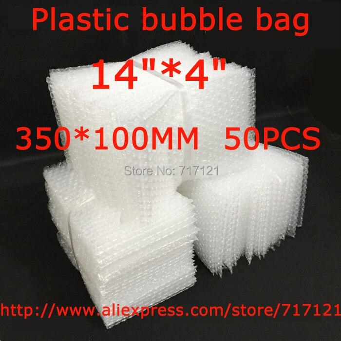 d80946ed3 Saco de empacotamento da bolha protetora Transparente 14 x4   350x100mm 50 pcs  frete grátis